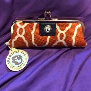 Mermaid slender coin purse burnt orange/ cream
